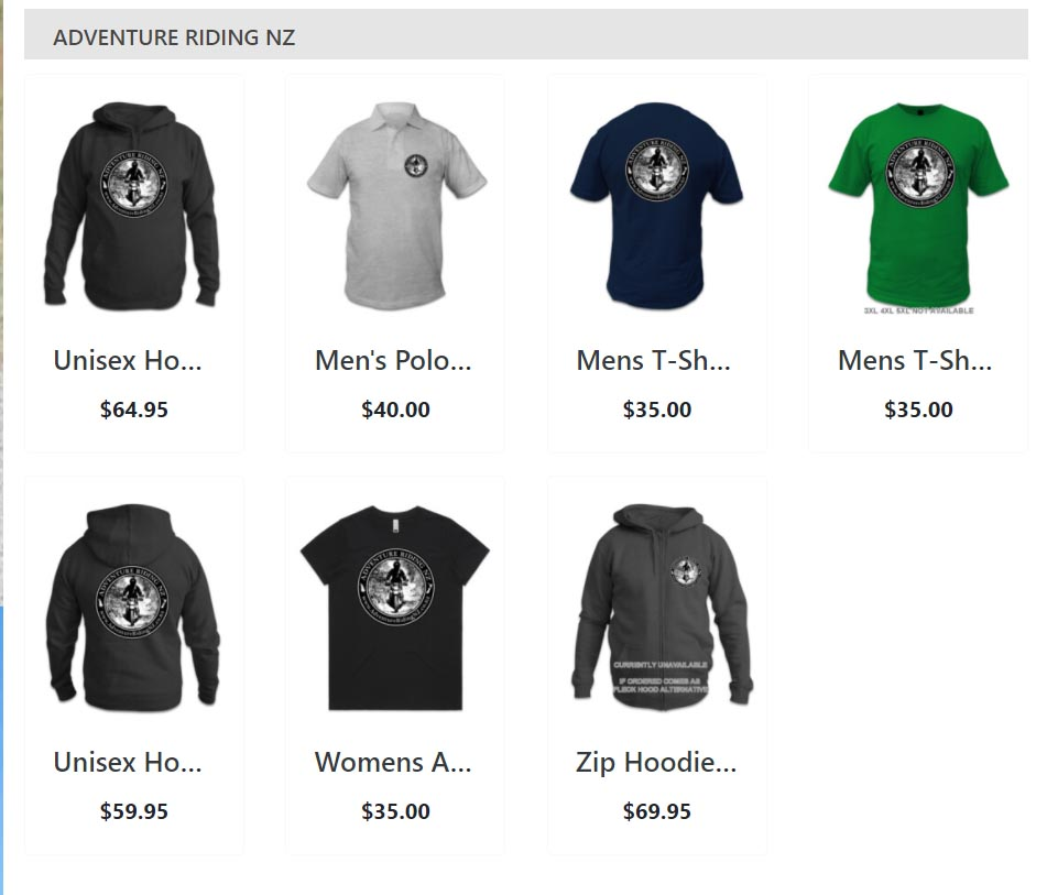 Adventure Riding NZ Wear range