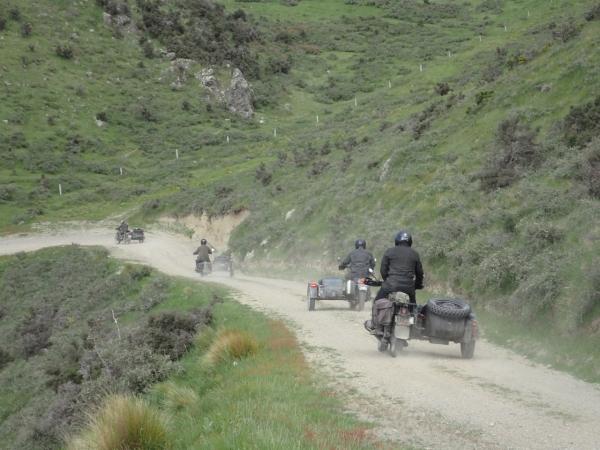 Sidecars on St Leonards - Kaiwara Road