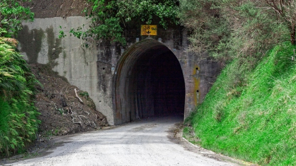 Entrance to the Tangahoe Valley Tunnel