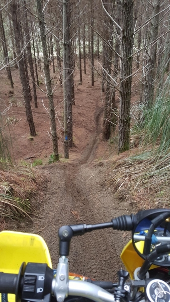 A single track drop at The Sandpit