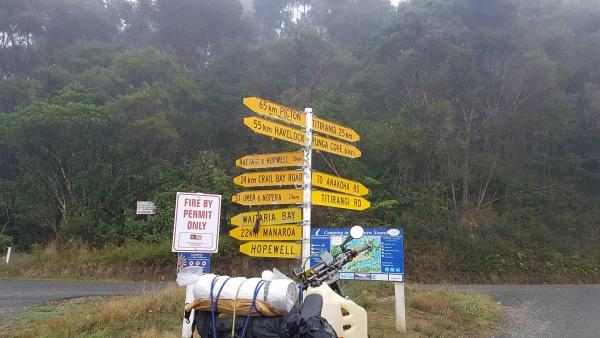 The start of Titirangi Road
