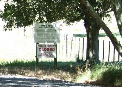 Public Easement Information on Wade Road