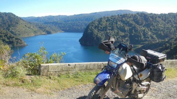 Looking over Lake Waikaremoana from SH38