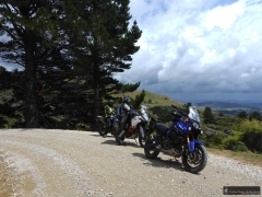 Riders admiring the view from Spur Road