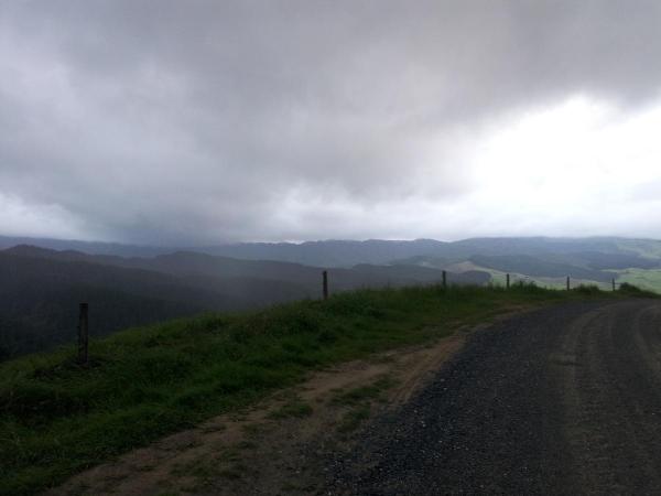 Waitetuna Valley Road on a grey day