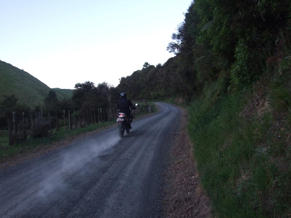 Waiti Road in the evening