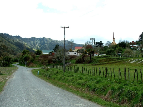Jerusalem and the Catholic Convent on the Whanganui River road.
