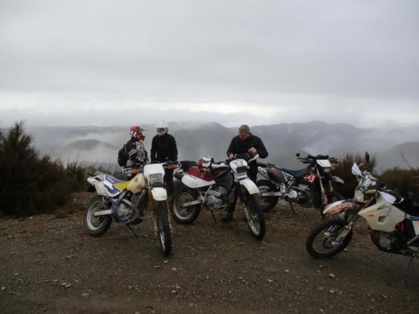 Riders at the Quarry off Kaweka Road