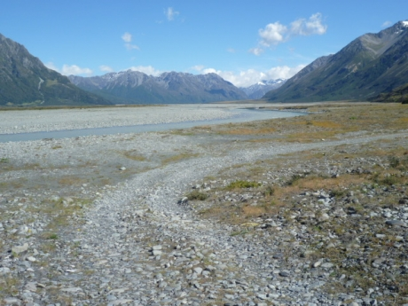 The start of the Wilberforce River riverbed