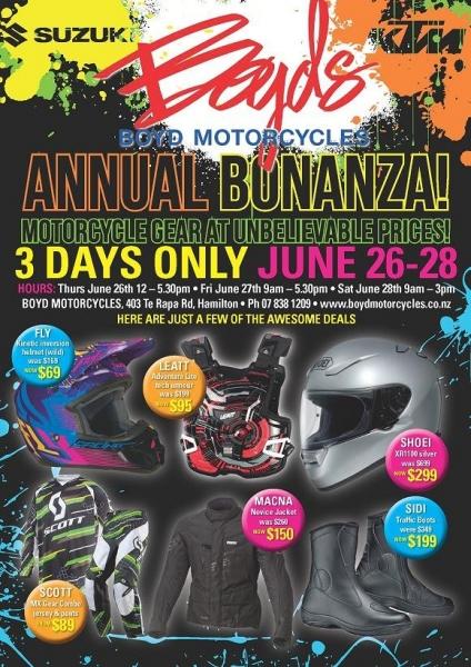 Boyd Motorcycles Annual Sales 2014
