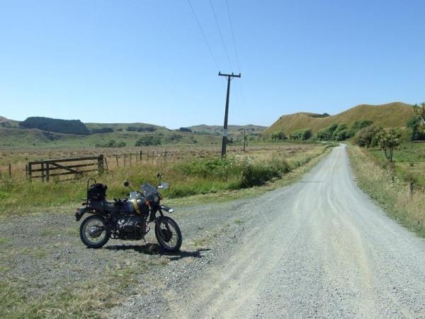Taking a break between Raglan and Port Waikato