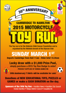 Ulysses Cambridge to Hamilton Toy Run 2015